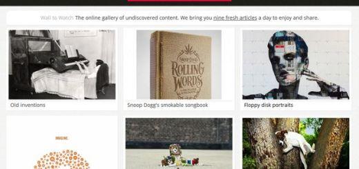 Wall to Watch, galería con imágenes de contenidos interesantes por descubrir