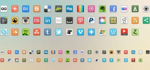41 Social Media Icons, colección gratuita de bonitos iconos de redes sociales