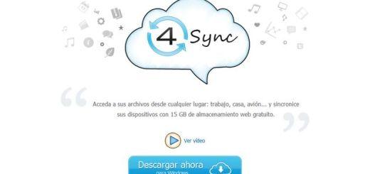 4sync, 15 Gb gratis para almacenamiento en la nube y sincronización multiplataforma