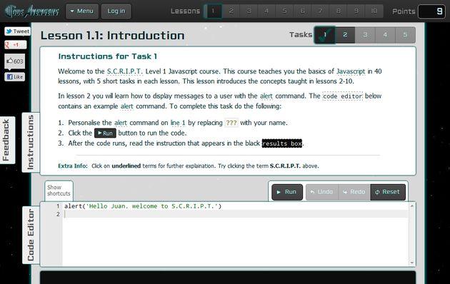 Code Avengers, un ameno curso interactivo para aprender Javascript