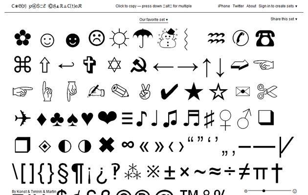 Copy Paste Character Gran Colección De Símbolos Y