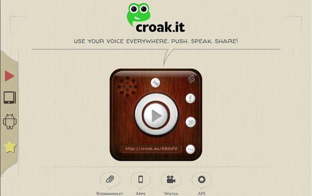 Croak: graba tu voz, modifica algunos parámetros para hacerla más divertida y compártela