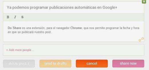 Do Share, la extensión de Chrome que nos permite programar publicaciones en Google+