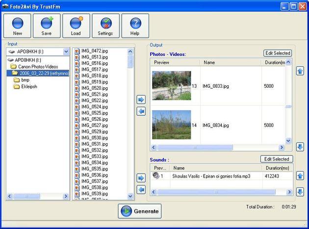 Foto2Avi, edita y crea tus vídeos de forma sencilla y gratuita