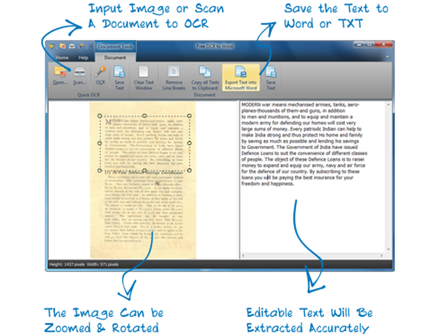 Free OCR to Word Free OCR to Word: software gratis para convertir documentos e imágenes a texto