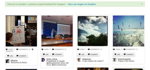 Instadash: cliente web para Instagram, con apariencia Pinterest y respaldos en Dropbox