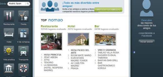 Nomao: busca, descubre y comparte con los amigos tus lugares preferidos