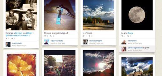 La apariencia de Pinterest más las fotos de Instagram es igual a Pinstagram