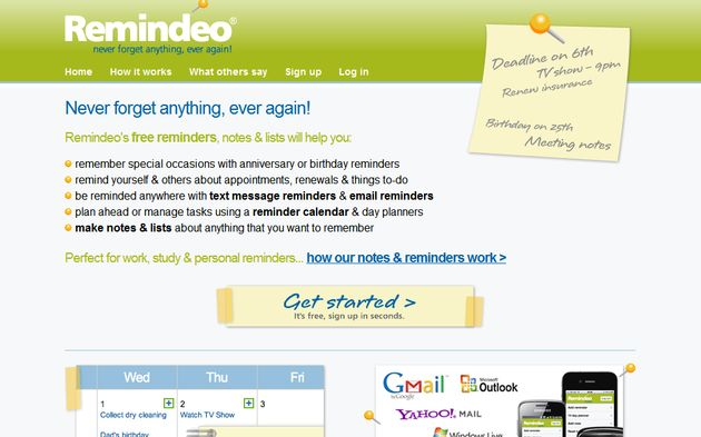 Remindeo, agenda online gratuita para no olvidarnos de nada