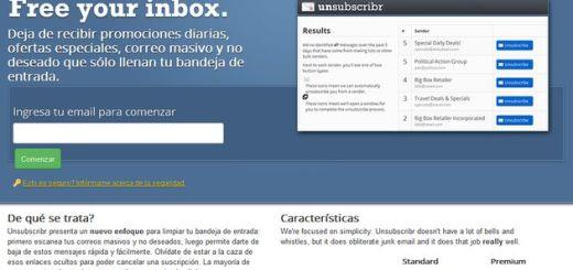 Unsubscribr, deja de recibir múltiples correos no deseados y boletines molestos dándote de baja con un clic