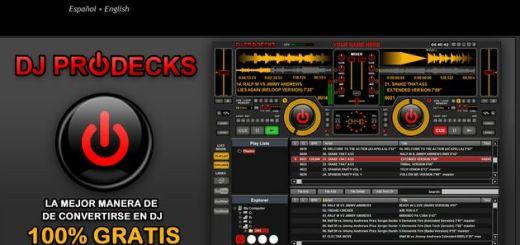 DJ ProDecks, impresionante mezclador para DJs profesionales completamente gratis