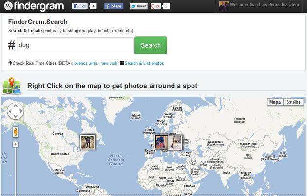 Findergram, buscador de fotografías geolocalizadas en Instagram