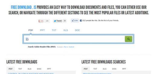 Freedownload: buscador temático especializado en documentos PDF, TXT, DOC, XLS y PPT