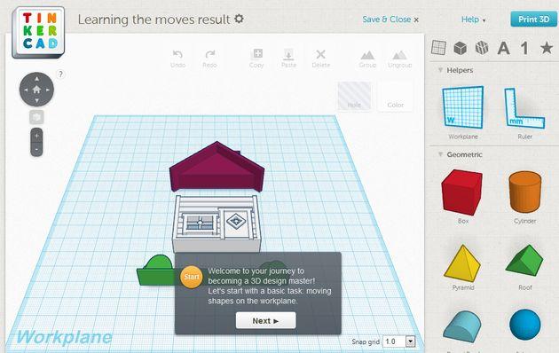 Tinkercard, curso interactivo gratuito para aprender a crear objetos en 3D