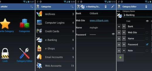 aWallet Password Manager, una app Android gratuita para guardar todo tipo de contraseñas