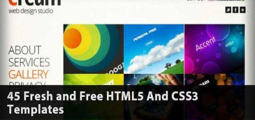 45 plantillas HTML5 gratis para uso personal o comercial