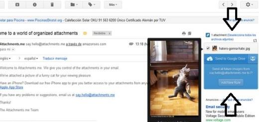 Attachments.me, envía a la nube los archivos adjuntos que recibes en tu cuenta de Gmail (Chrome)