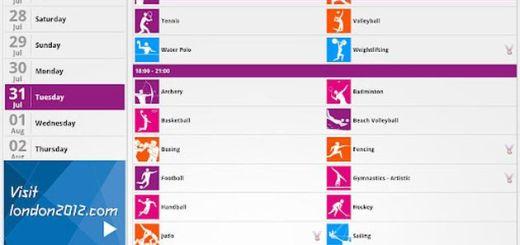 Aplicación oficial de los Juegos Olímpicos 2012 para Android