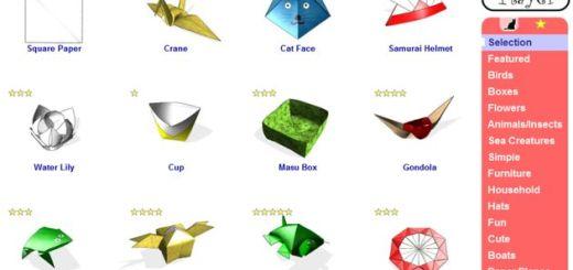 Origami Player, un sitio para los aficionados a la papiroflexia o los que quieren aprender