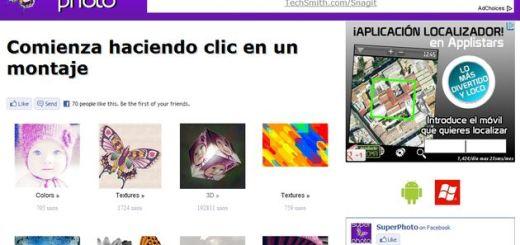 SuperPhotoApp, una web con muchos marcos y efectos para aplicar a tus fotos