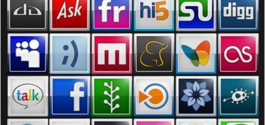 Pack con 65 coloristas y bellos iconos sociales gratuitos