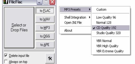 FlicFlac, un minimalista y potente conversor de archivos de audio gratuito