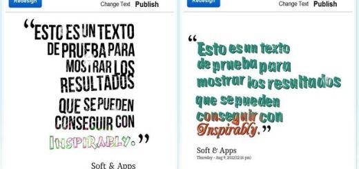 Inspirably, herramienta web para crear bonitas imágenes a partir de un texto