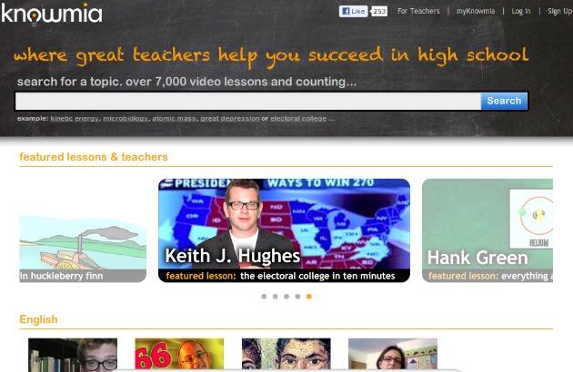 Knowmia, directorio y buscador con alrededor de 7000 vídeos educativos