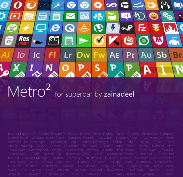 Más de 100 iconos gratuitos de aplicaciones, en estilo Metro