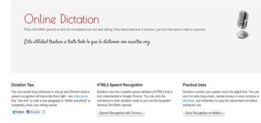 Online Dictation, convertir voz a texto con esta utilidad online gratuita