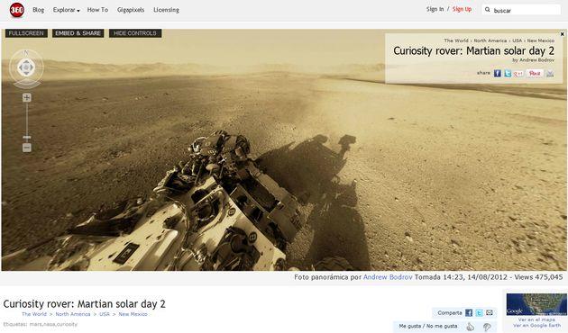 Date un paseo por Marte con esta imagen panorámica de 360º, a partir de las fotos del Curiosity