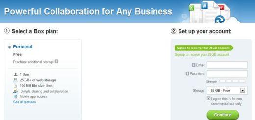 Una promoción de Box que otorga 25 Gb de espacio gratuito a los nuevos usuarios