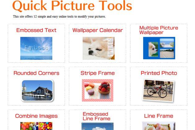 Quick Picture Tools, una docena de herramientas online para edición rápida de imágenes