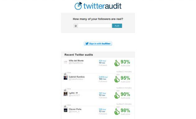 TwitterAudit, comprueba si los followers de una cuenta de Twitter son reales o falsos