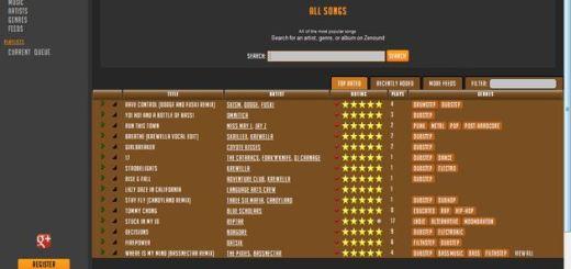Zenound Music: otra alternativa online para escuchar música, crear playlists y compartirlas