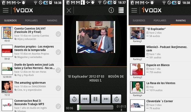 iVoox La plataforma iVoox, para escuchar podcasts y radios a la carta, lanza su app para smartphones