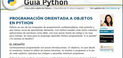 Guía Python, un completo curso rápido de Python para todas las edades