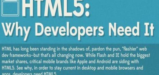 Por qué los desarrolladores necesitan de HTML5 (infografía)