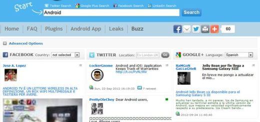 Social Buzz: buscador social en tiempo real con resultados de Facebook, Twitter y Google+