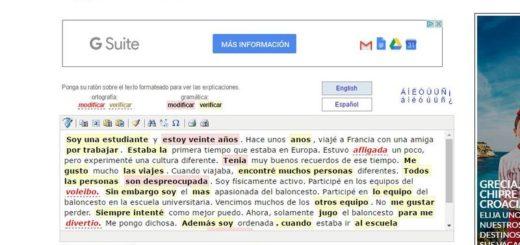 SpanishChecker: un corrector online de gramática y ortografía en español