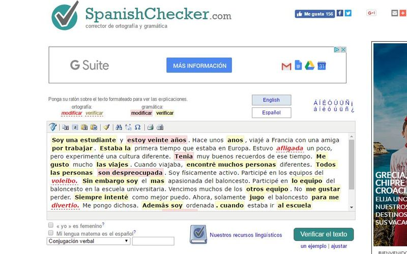 Spanishchecker Un Corrector Online De Gramática Y