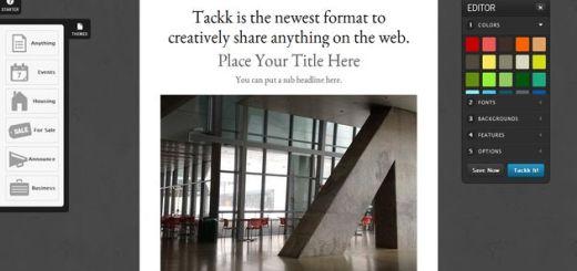 Tackk: una herramienta web para crear boletines, panfletos, carteles, presentaciones de productos, etc