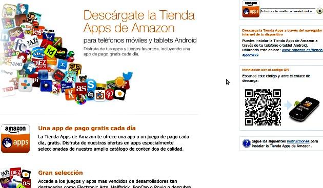 La tienda de Apps de Amazon para Android ya está disponible en España