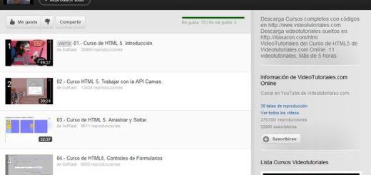 Vídeo curso de HTML5 gratuito y en español