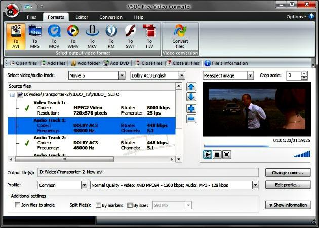 VSDC Free Video Converter, completo editor y conversor de vídeo gratuito