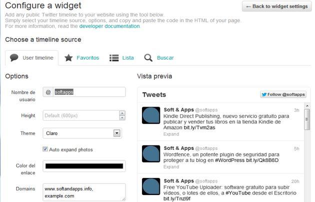 Nuevo widget de Twitter para sitios web, ahora interactivo
