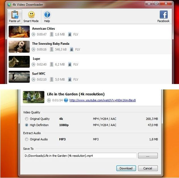 4K Video Downloader 4K Video Downloader, software multiplataforma y gratuito para descargar vídeos de internet