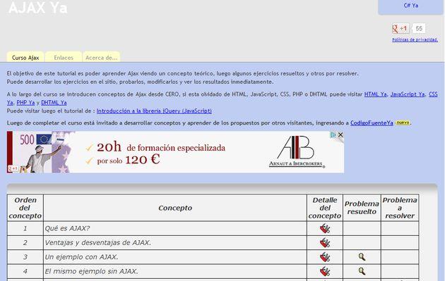 Ajax Ya: curso online, gratuito y en español de AJAX, con teoría y ejercicios