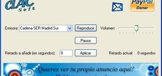 ClacRadio, software gratuito para escuchar radios online que permite especificar el retraso