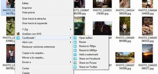 Cooltweak, edita y comparte imágenes desde el menú contextual de Windows